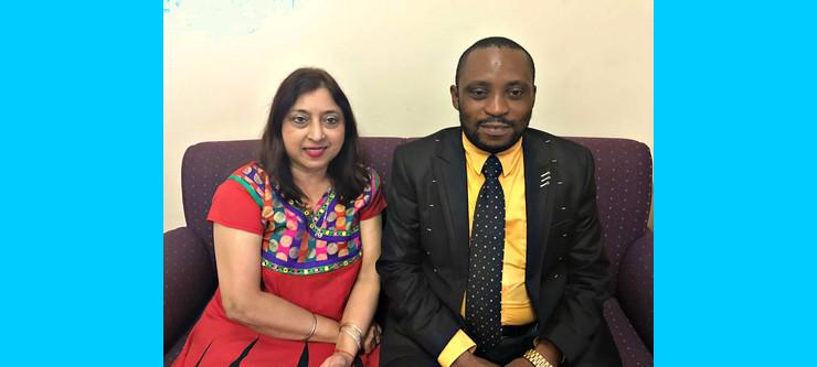 Mr Samuel Fikiri with his supervisor Professor Shanta Balgobind Singh.