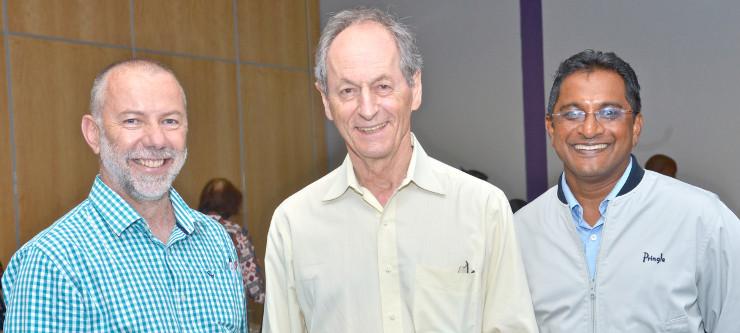Dr Bernhard Gaede, Sir Michael Marmot and Dr Mergan Naidoo.